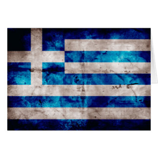 Flag of Greece; Greek Card