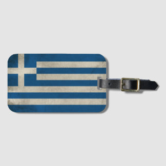 Flag of Greece Grunge Luggage Tag