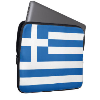 Flag of Greece Neoprene Laptop Sleeve
