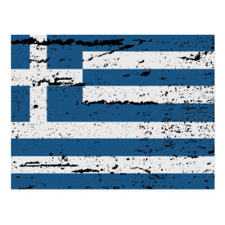 FLAG OF GREECE POSTCARD