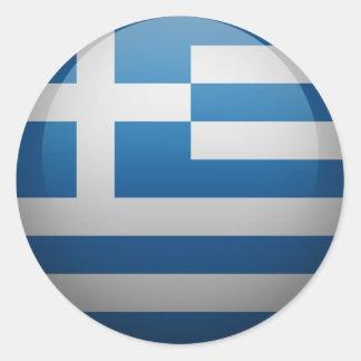 Flag of Greece Round Sticker