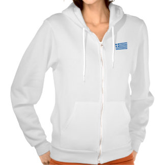 Flag of Greece Hooded Pullovers