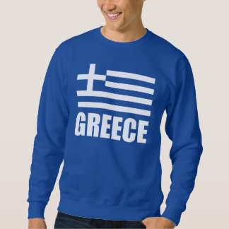Flag Of Greece White Text Sweatshirt