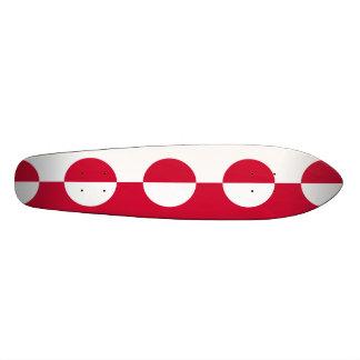 Flag of Greenland 21.6 Cm Skateboard Deck