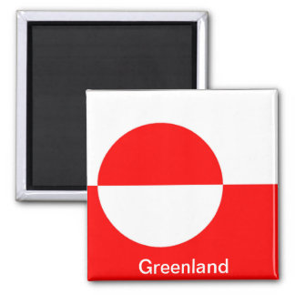 Flag of Greenland Square Magnet