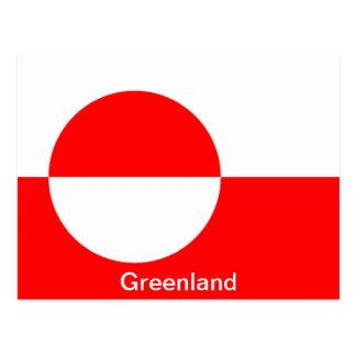 Flag of Greenland Postcard