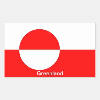 Flag of Greenland Rectangular Sticker