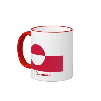 Flag of Greenland Ringer Mug