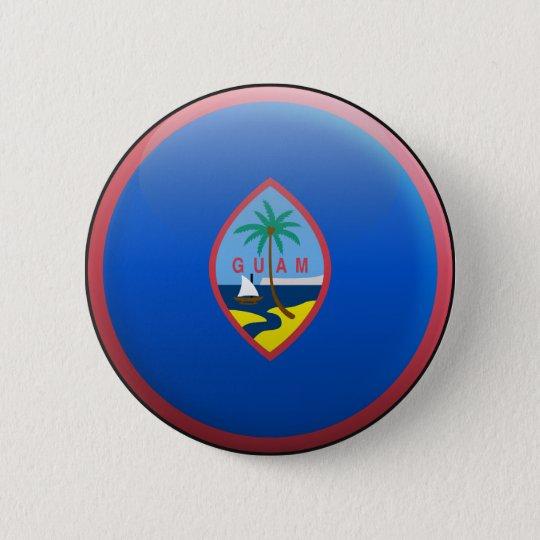 Flag of Guam 6 Cm Round Badge
