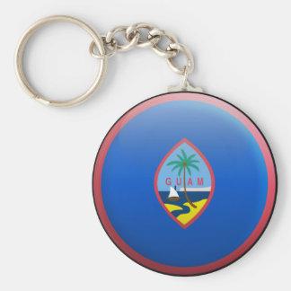 Flag of Guam Basic Round Button Key Ring
