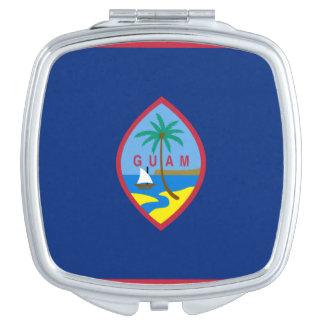 Flag of Guam Square Compact Mirror