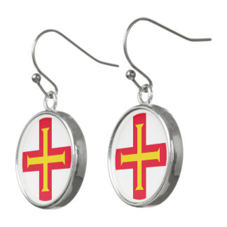 Flag of Guernsey Earrings