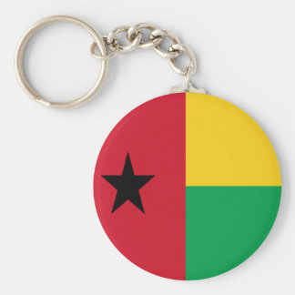 Flag of Guinea-Bissau Basic Round Button Key Ring