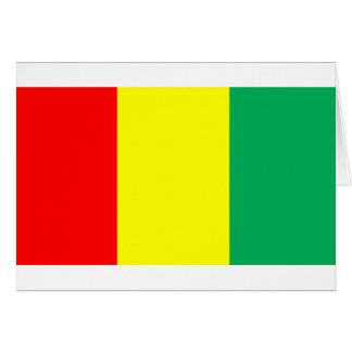 Flag of Guinea Card