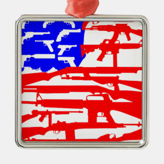 Flag Of Guns 2nd Amendment Christmas Ornament