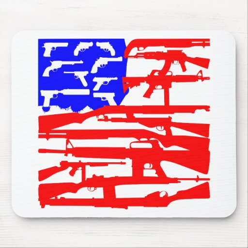 Flag Of Guns 2nd Amendment Mouse Pad