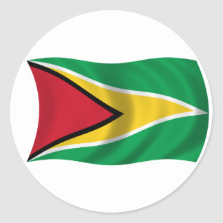 Flag of Guyana Classic Round Sticker