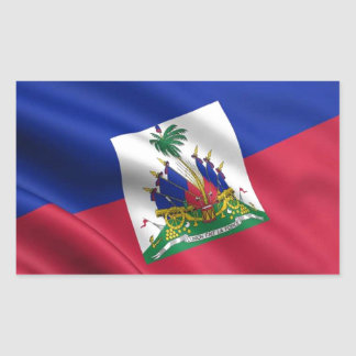 FLAG OF HAITI RECTANGULAR STICKER