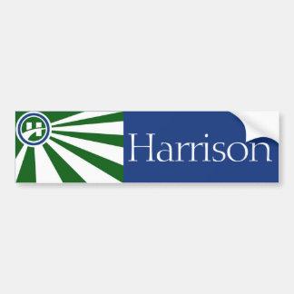 Flag of Harrison, Ohio bumper sticker