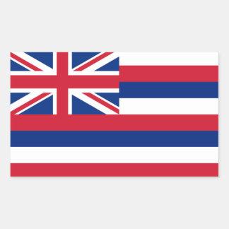 Flag of Hawaii Rectangular Sticker