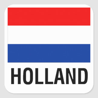 FLAG OF HOLLAND SQUARE STICKER