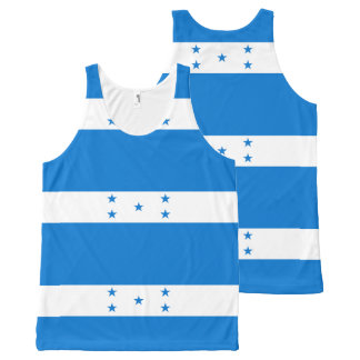 Flag of Honduras - Bandera Hondureña de Honduras All-Over Print Tank Top