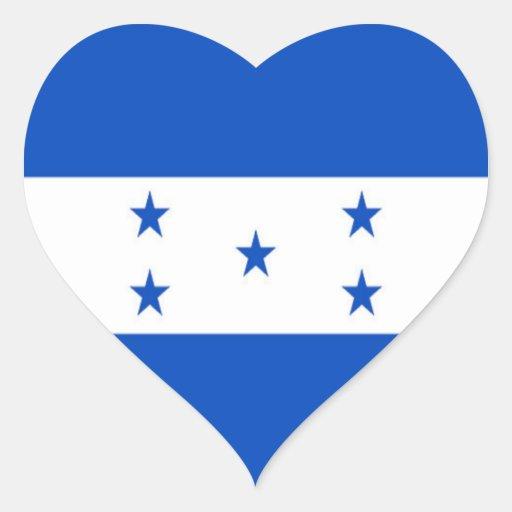 Flag of Honduras Heart Sticker
