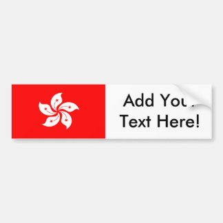 Flag of Hong Kong Bumper Sticker