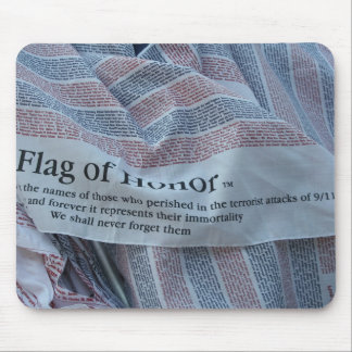 Flag of Honor - We Will Never Forget 9/11 Mouse Pad