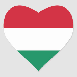 Flag of Hungary Heart Sticker