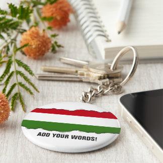 Flag of Hungary Key Ring