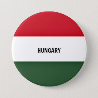 Flag of Hungary, labeled 7.5 Cm Round Badge
