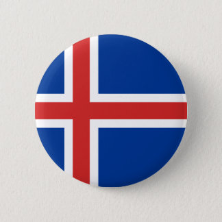 Flag of Iceland 6 Cm Round Badge