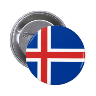 Flag of Iceland 6 Cm Round Badge