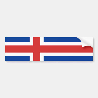 Flag of Iceland Bumper Sticker