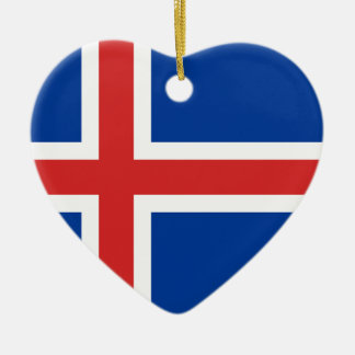 Flag of Iceland Christmas Ornament