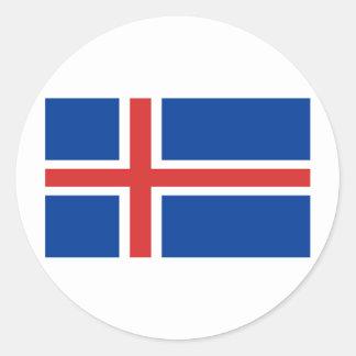 Flag of Iceland Classic Round Sticker