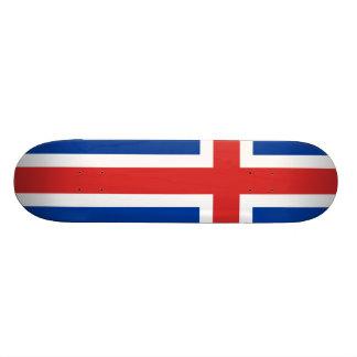 Flag of Iceland Custom Skate Board