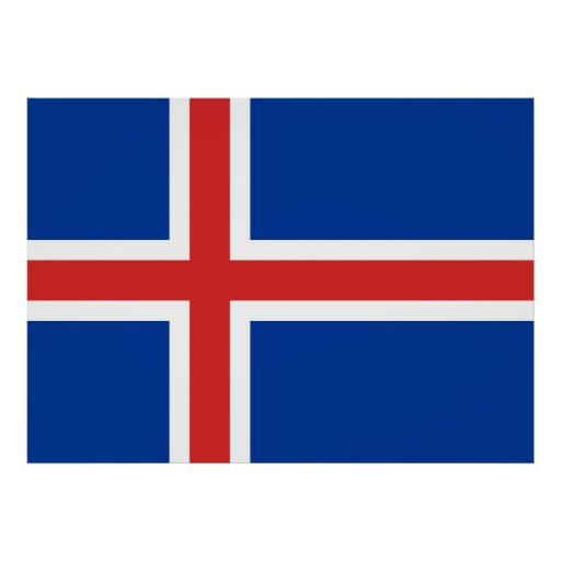 Flag of Iceland Posters