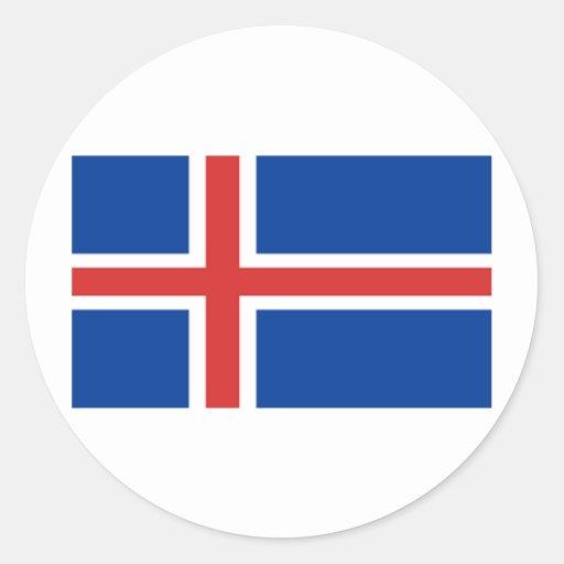 Flag of Iceland Round Sticker