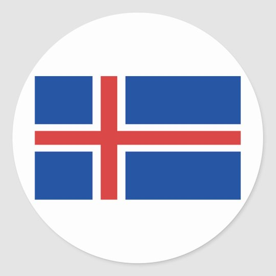 Flag of Iceland Round Sticker