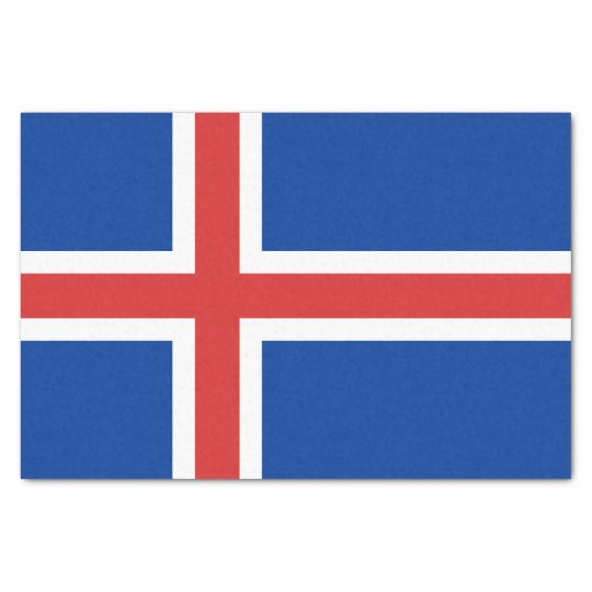 Flag of Iceland Tissue Paper