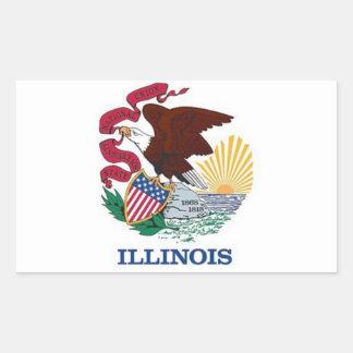Flag of Illinois Rectangular Sticker