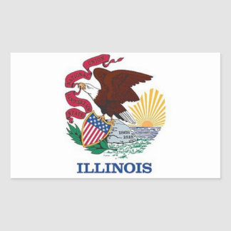 Flag of Illinois Stickers