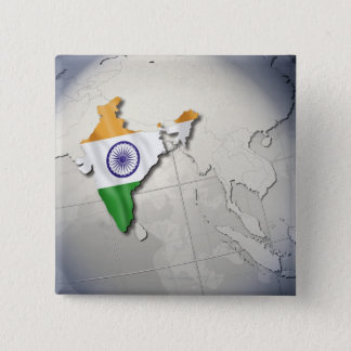 Flag of India 15 Cm Square Badge