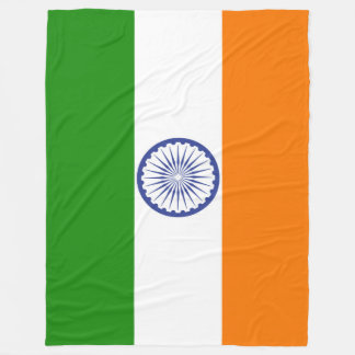 Flag of India Ashoka Chakra Fleece Blanket