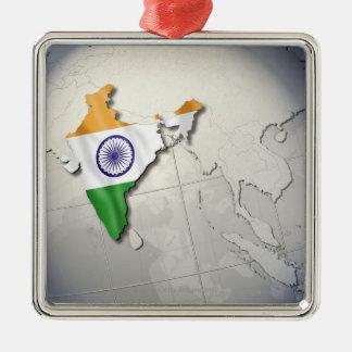 Flag of India Christmas Ornament