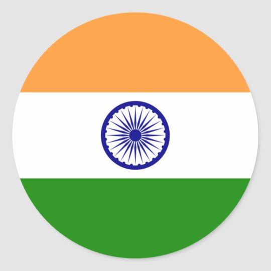 Flag of India Classic Round Sticker