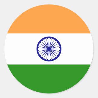 Flag of India Round Sticker