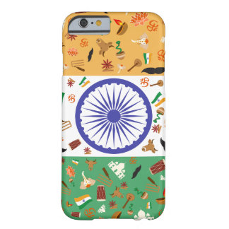 Flag of India with cultural items Barely There iPhone 6 Case